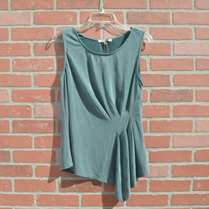 Green Envelope sleeveless top size small new
